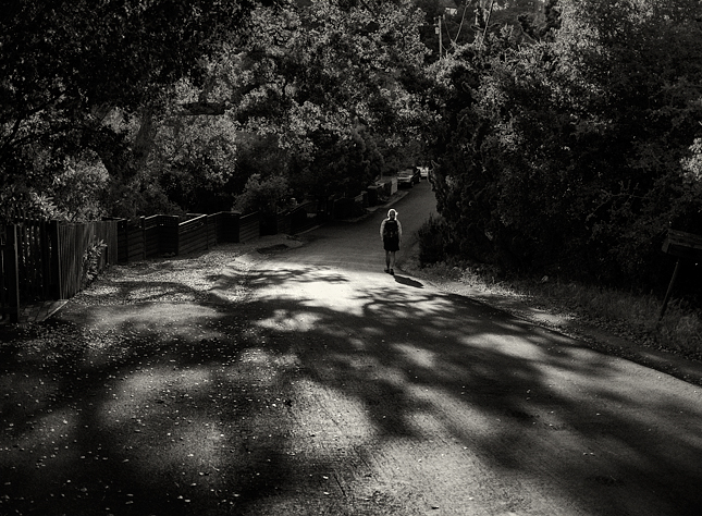 """Walking in light"" Photo © 2013 Abe Kleinfeld"