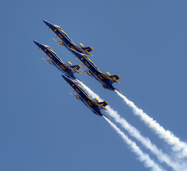 Blue Angels ascend