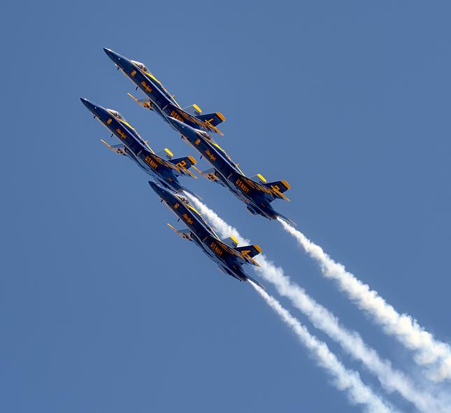 Blue Angels ascend