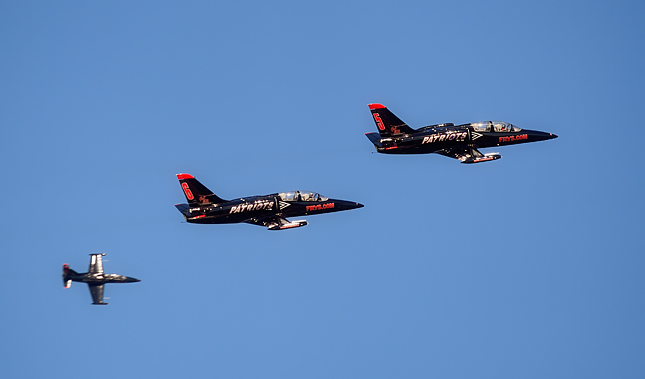 Patriot Jet Team flies by for their close-up photo